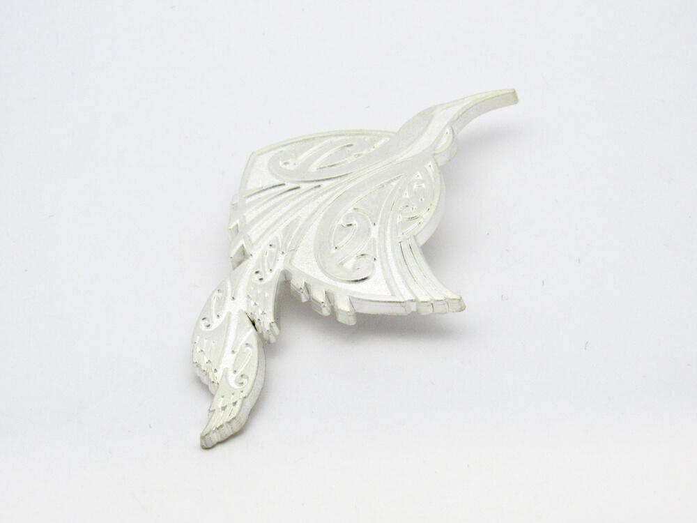 Satin Silver Brooch