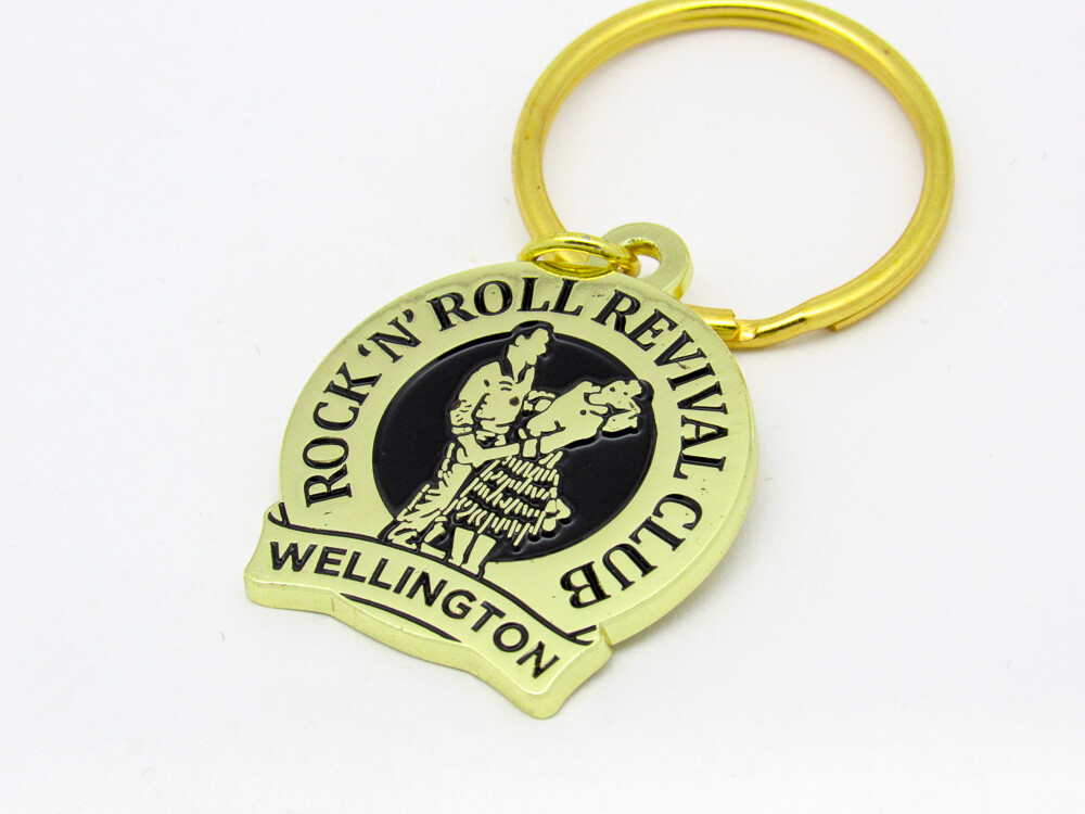 Rock 'N' Roll Keyring