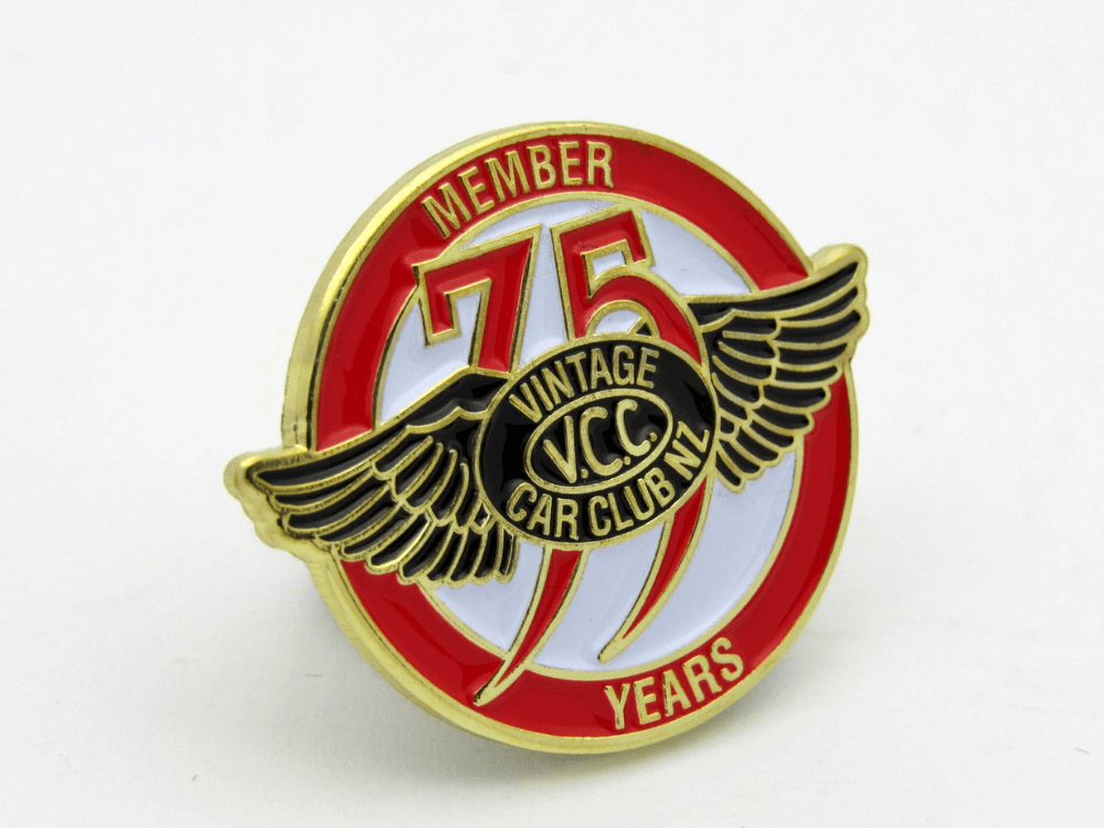 75 Vintage Car Club Pin