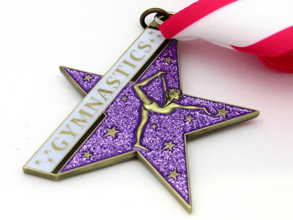 Gymnastics Pink Medal